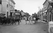 Selsey, Horse Riding in the Village Centre c1960