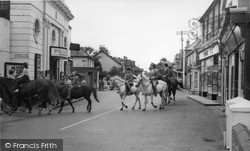 Selsey, Horse Riding In The Village Centre c.1960