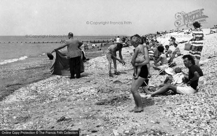 Photo of Selsey, Mill Beach c.1955
