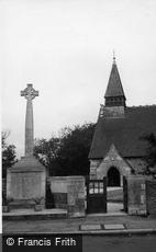 Selsey, St Peter's Church and War Memorial c1950