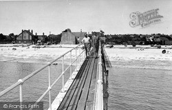 Selsey, The Beach From The Lifeboat House c.1955