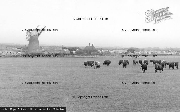Photo of Selsey, The Mill And Caravan Site c.1955