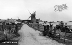 Selsey, The Old Mill And Caravan Park c.1955