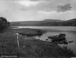 Semerwater, Showing Addleborough 1929, Semer Water
