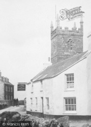 Sennen, Church And The First And Last Inn 1908