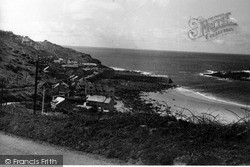 Sennen Cove, The Village And Sands c.1955