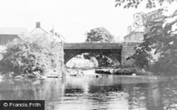 Sennybridge, The River And Bridge c.1960