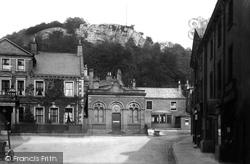 Castleberg Crag From Market Place 1895, Settle