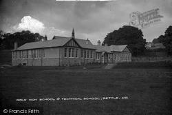 Girls' High School And Technical School c.1900, Settle