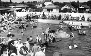 Severn Beach, Blue Lagoon and Childrens Swimming Pool c1950