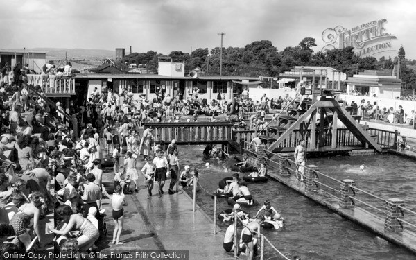 Photo of Severn Beach, Blue Lagoon Swimming Pool 1951