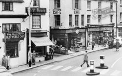 Shaftesbury, Cafes, High Street c.1955