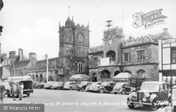 Shaftesbury, St Peter's Church And Market Hall c.1950
