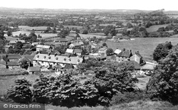 Shaftesbury, View From Castle Hill c.1955