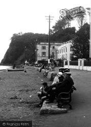Shaldon, People Enjoying The View 1938