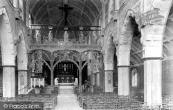St Peter's Church Interior 1903, Shaldon