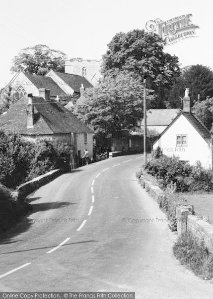 Photo of Shalfleet, The Village c.1955