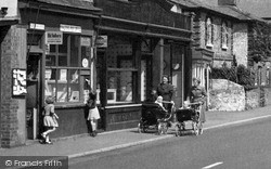 Shalford, Prams Outside The Post Office c.1955