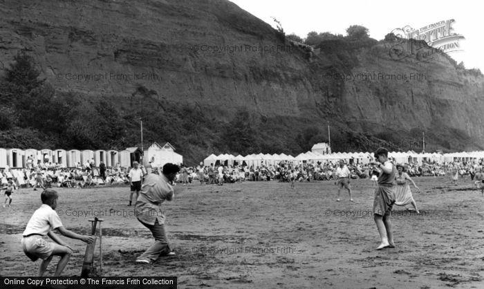 Shanklin, Cricket On Small Hope Beach c.1955
