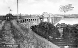 Sharpness, Severn Railway Bridge From The Severn Bridge Station c.1955