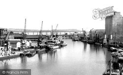 Sharpness, The Docks And Severn Bridge c.1955