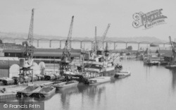 Sharpness, The Docks And Severn Rail Bridge c.1955