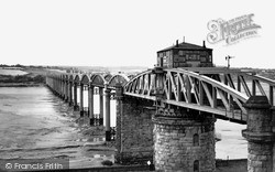 Sharpness, The Severn Railway Bridge c.1955