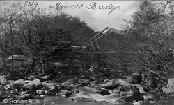 Shaugh Prior, Shaugh Bridge, Miners Bridge c.1876