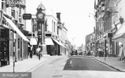 Sheerness, Clock Tower And High Street c.1955