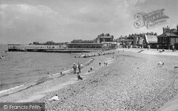 Sheerness, Jetty And  Beach c.1950