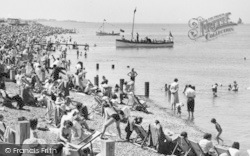 Sheerness, The Busy Beach c.1955