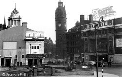 Sheffield, Barker's Pool And The Town Hall c.1955