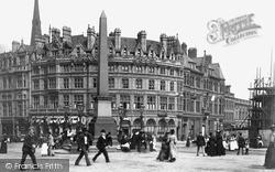 Sheffield, Queen Victoria Jubilee Monolith, Town Hall Square c.1890