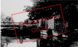 River And Bridge c.1950, Shefford