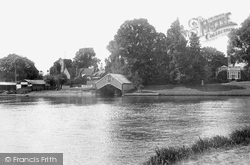 Shepperton, River Thames  And St Nicholas Church 1899