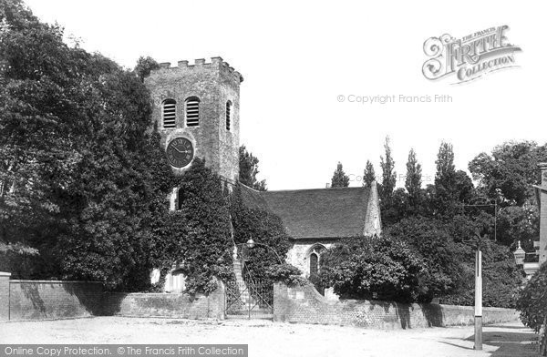 Shepperton, the church, 1899. Reproduced courtesy of The Francis Frith Collection