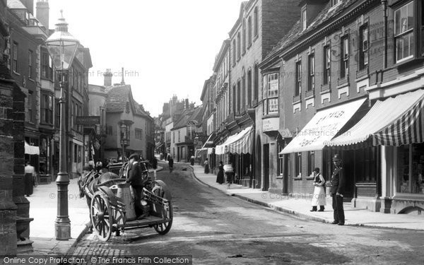 Photo of Sherborne, A Milk Cart In Cheap Street 1903