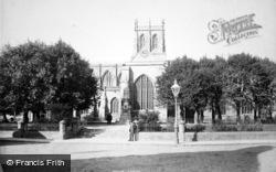 Sherborne, Abbey South Side 1895
