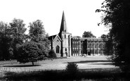 Sherborne, Church of St Mary Magdalene and Sherborn House c1960