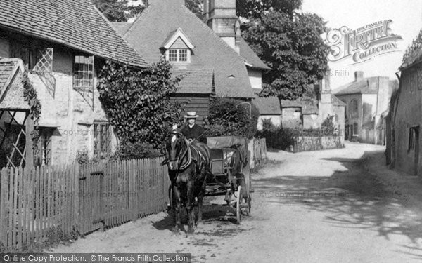 Photo of Shere, A Carriage, Upper Street 1904