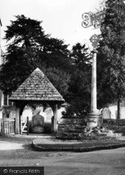 Shere, Memorial Beside St James' Lychgate c.1955