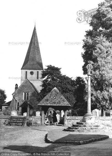 Photo of Shere, St James Church c.1955