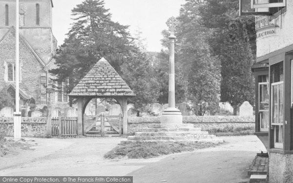Photo of Shere, St James Church, Lychgate 1921