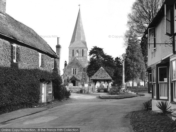 Photo of Shere, The Village And St James' Church c.1955