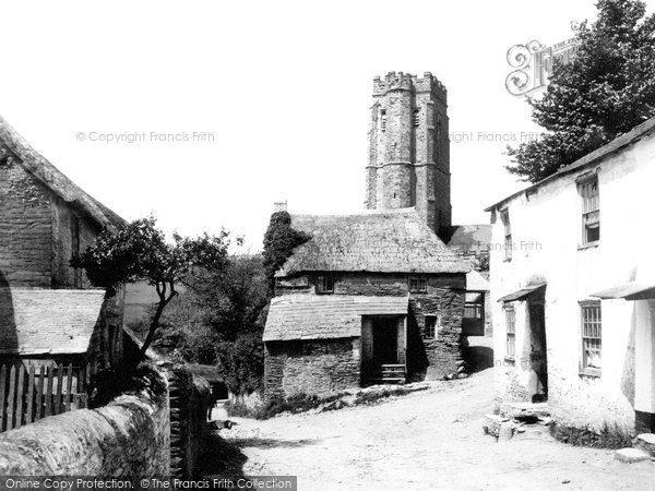 Sherford, Church and Street 1890