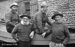 Sheringham, Fishermen In Their Gansies c.1900