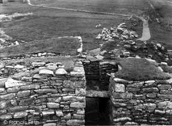 Shetland, Clickhimin Broch, Forebuilding From Above 1954, Shetland Islands