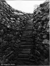 Shetland, Clickhimin Broch, Stairs 1954