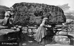 Shetland, Island Woman Carrying Peat c.1890, Shetland Islands