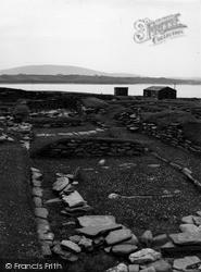 Shetland, Jarlshof Early Viking Settlement c.1955, Shetland Islands